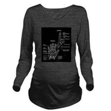 hand anatomy Long Sleeve Maternity T-Shirt