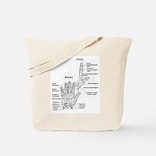 hand anatomy Tote Bag