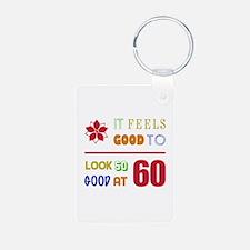 Funny 60th Birthday (Feels Good) Keychains