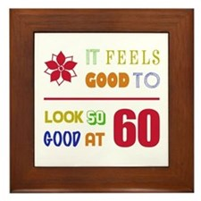 Funny 60th Birthday (Feels Good) Framed Tile