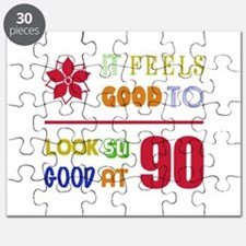 Funny 90th Birthday (Feels Good) Puzzle