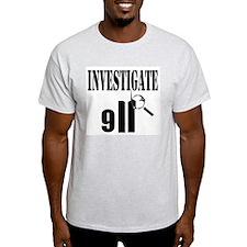 Investigate 9/11 Ash Grey T-Shirt