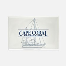 Cape Coral - Rectangle Magnet