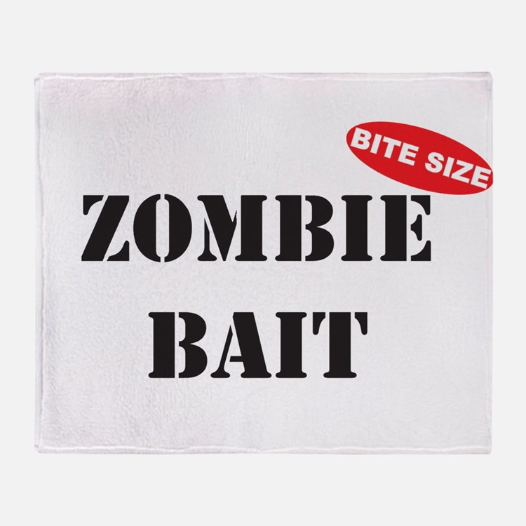 Bite Size Zombie Bait Throw Blanket