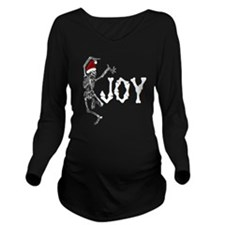 Skeleton Santa - Joy Long Sleeve Maternity T-Shirt