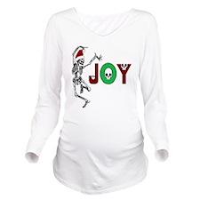 Skeleton Santa - Joy Long Sleeve Maternity T-Shirt