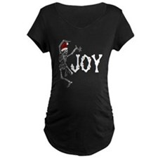 Skeleton Santa - Joy Maternity T-Shirt