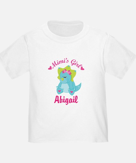 Personalized Mimis Girl Dino T-Shirt
