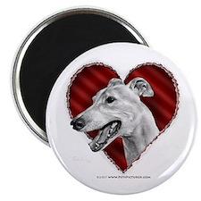 """Greyhound Valentine 2.25"""" Magnet (100 pack)"""