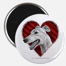Greyhound Valentine Magnet