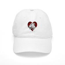 Greyhound Valentine Baseball Cap
