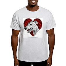 Greyhound Valentine Ash Grey T-Shirt