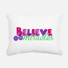 Believe in Miracles Rectangular Canvas Pillow