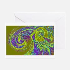 Purple Power Wave Greeting Cards