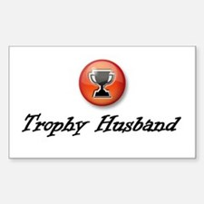Trophy Husband Rectangle Decal