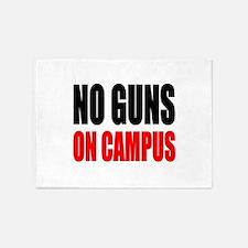 No Guns On Campus 5'x7'Area Rug