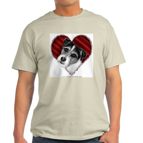 Jack Russell Terrier Valentin Ash Grey T-Shirt