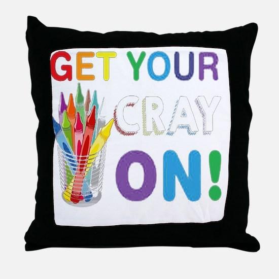 Cute Cray Throw Pillow