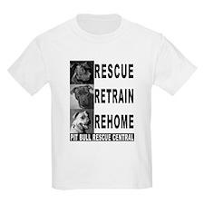 Rescue Retrain Rehome Kids T-Shirt