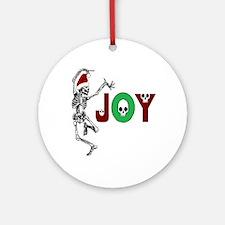 Skeleton Santa - Joy Ornament (Round)