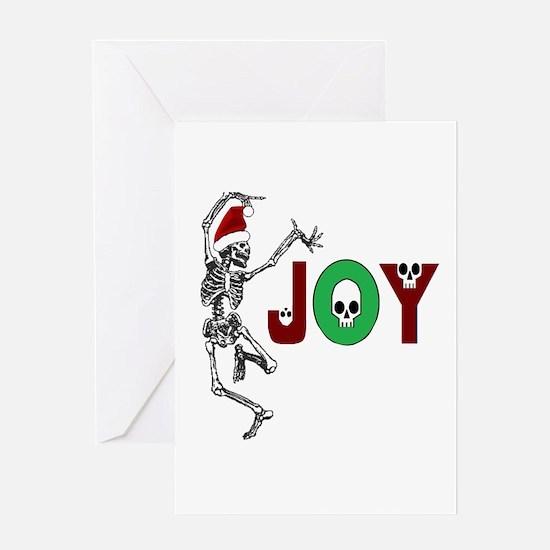 Skeleton Santa - Joy Greeting Cards
