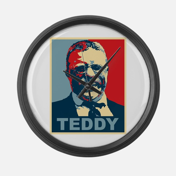 Teddy Roosevelt Large Wall Clock