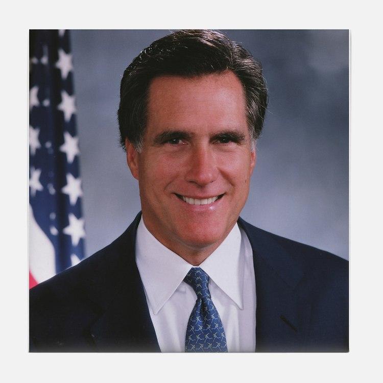 Mitt Romney Tile Coaster