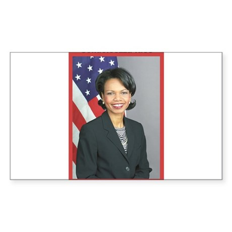 Condoleezza Rice Rectangle Sticker