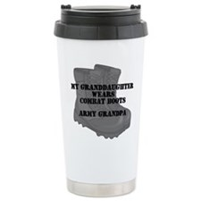 Army Grandpa Granddaughter Combat Boots Travel Mug