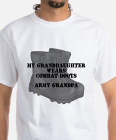 Army Grandpa Granddaughter Combat Boots T-Shirt