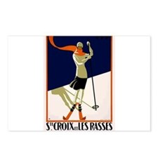 1922 Switzerland Ski Sainte-Croix Travel Poster Po