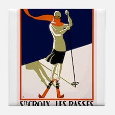 1922 Switzerland Ski Sainte-Croix Travel Poster Ti
