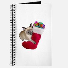 Kitty Christmas Stocking Journal