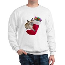 Kitty Christmas Stocking Sweatshirt