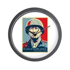 Patton Attack Wall Clock