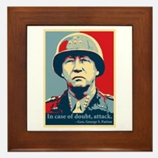 Patton Attack Framed Tile
