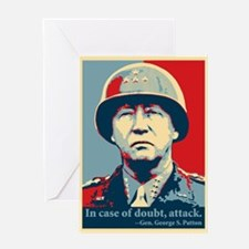 Patton Attack Greeting Card