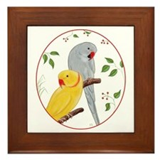 Indian Ringnecks Framed Tile
