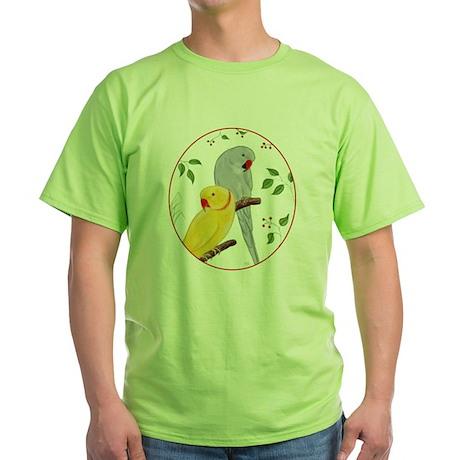 Indian Ringnecks Green T-Shirt