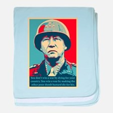 George S. Patton baby blanket
