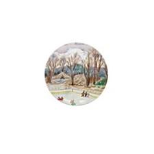 Siskiyou Ice Rink & Mt. Shasta Mini Button