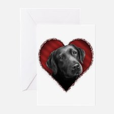 Labrador Retriever Valentine Greeting Cards (Packa