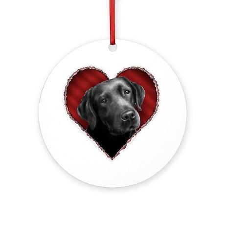 Labrador Retriever Valentine Ornament (Round)