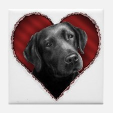 Labrador Retriever Valentine Tile Coaster
