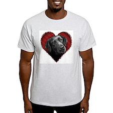 Labrador Retriever Valentine Ash Grey T-Shirt
