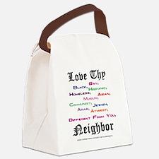 Love Thy Neighbor Canvas Lunch Bag