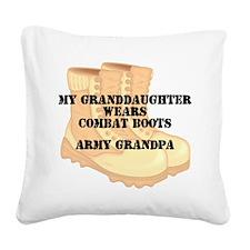 Army Grandpa Granddaughter Desert Combat Boots Squ