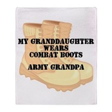 Army Grandpa Granddaughter Desert Combat Boots Thr