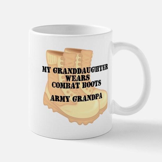 Army Grandpa Granddaughter Desert Combat Boots Mug
