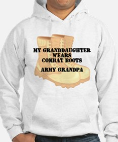 Army Grandpa Granddaughter Desert Combat Boots Hoo